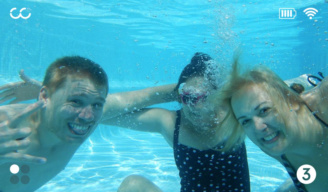 Aquabooth Arayüz Çekilen Fotoğraf Gösteriliyor